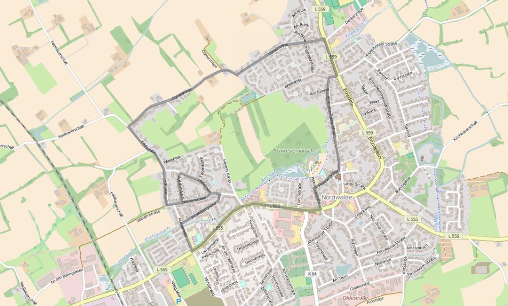 Nordwalde-Strecke