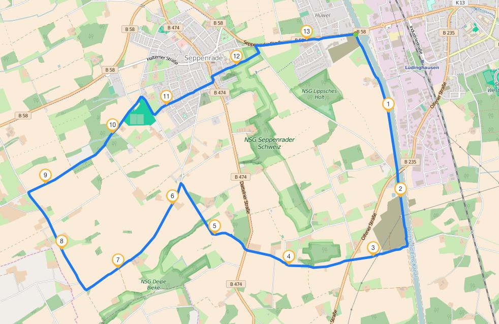 Seppenrade_Strecke