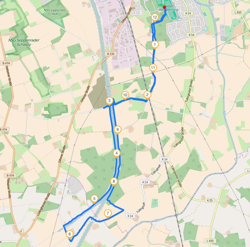 Strecke Schlieker-Brücke