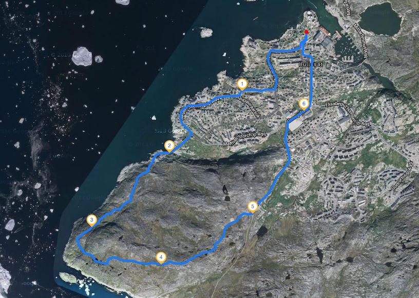 Strecke - Icefjord-Runde