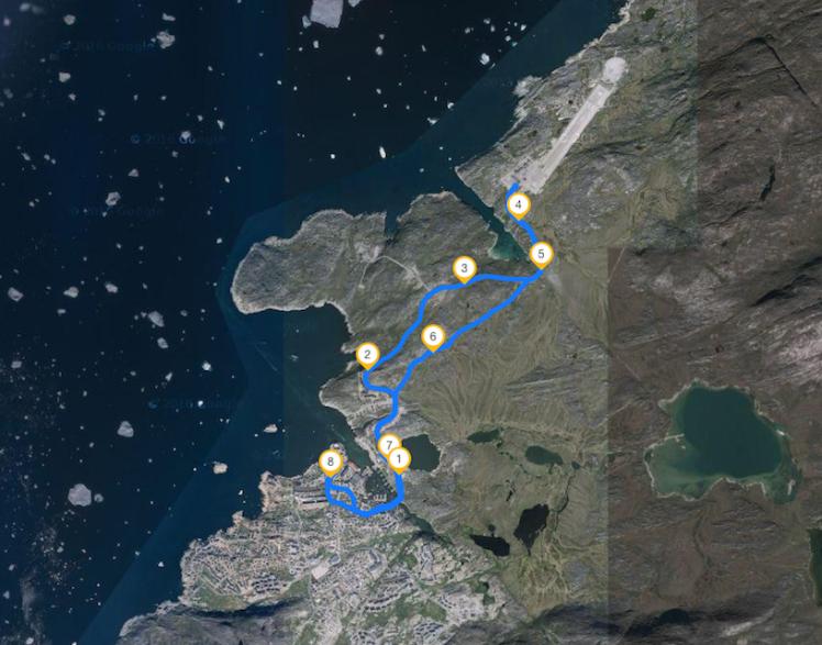 Strecke - Längste Straße in Ilulissat