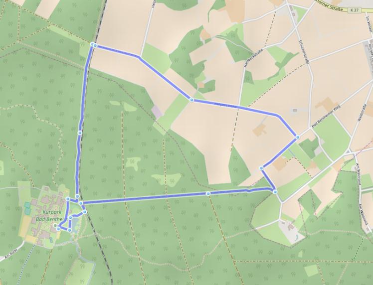 Strecke Bentheim