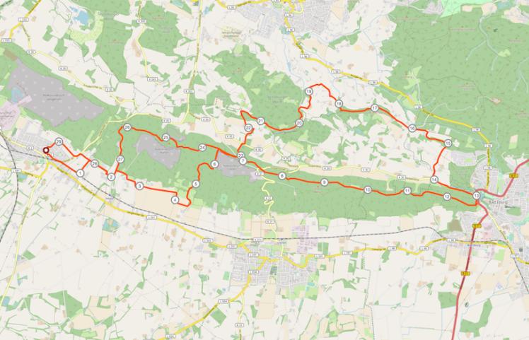 Strecke Teutolauf