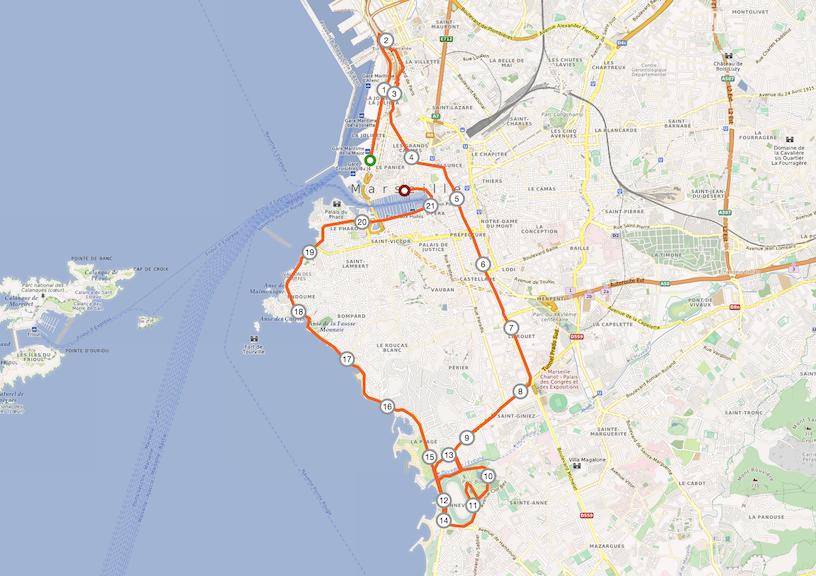 Strecke Marseille