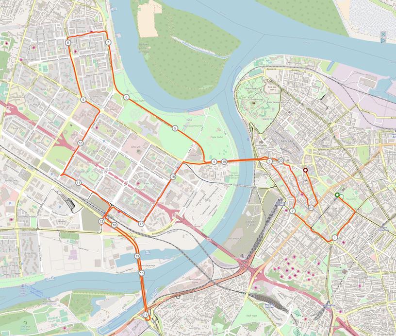 Strecke Belgrad