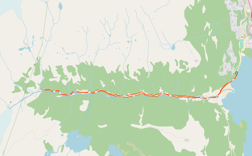 Strecke Buarbreen