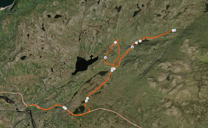 Strecke Hardangervidda