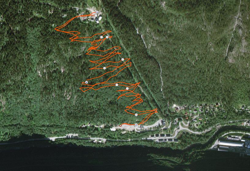 Strecke Rjukan